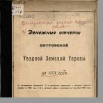 Островская уездная земская управа  Денежные отчеты Островской уездной земской управы за 1901 год