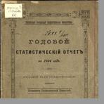 Псковская городская общественная библиотека  Годовой статистический отчет за 1904 год