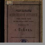 Результаты однодневной переписи городов Псковской губернии 28 ноября 1887 года